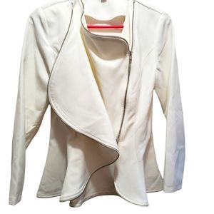 Fitted Ivory jacket by Haoduoyi, Med.